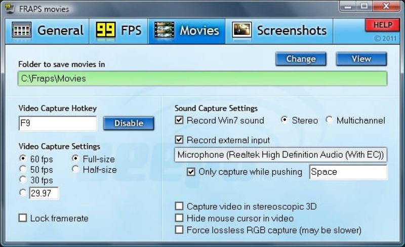 1080p screen recorder fraps jp