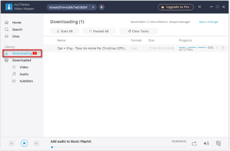 downloading list