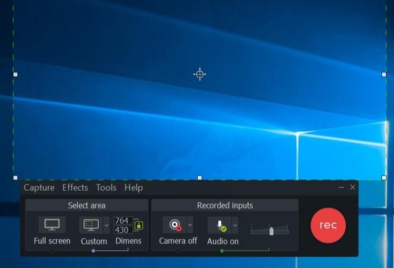 camstasia main interface