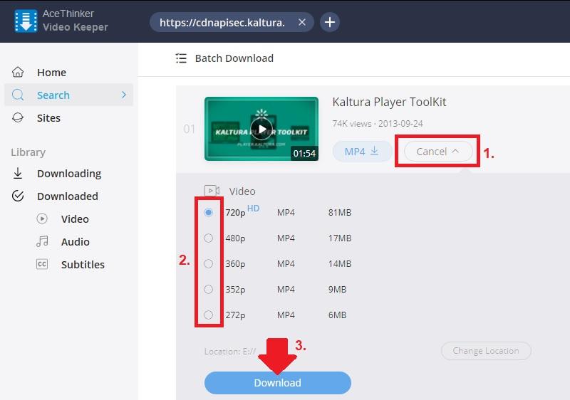 download kaltura vk step3 1