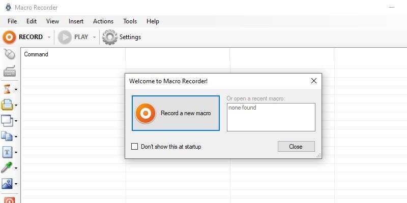 interface macrorecorder 1