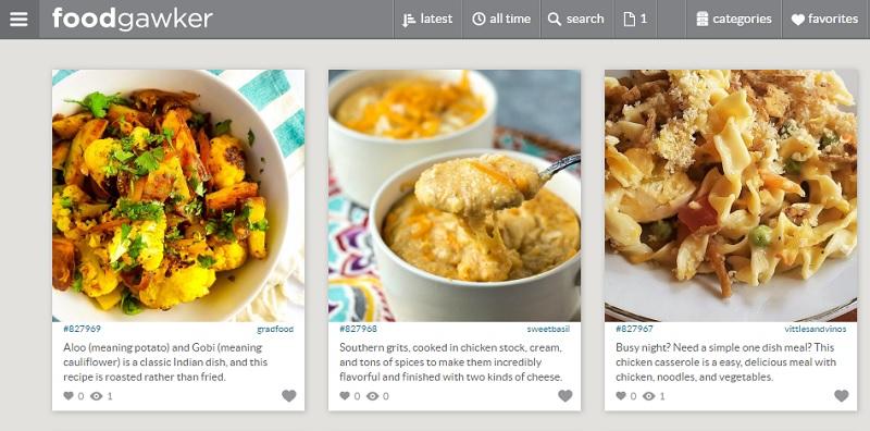 food gawker interface