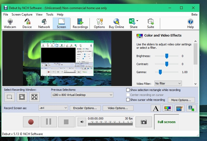 full recorder debut video capture