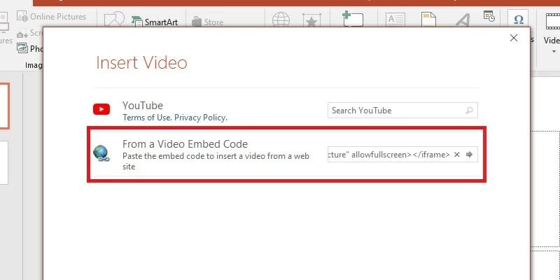 insert embed code step2