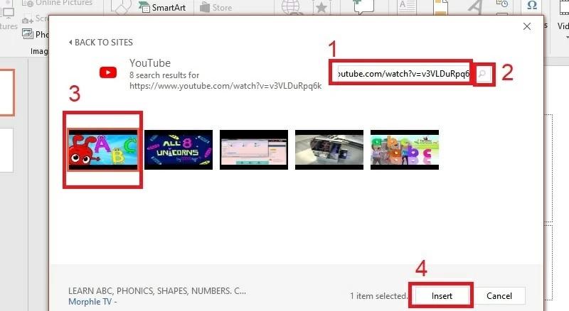 insert video step2