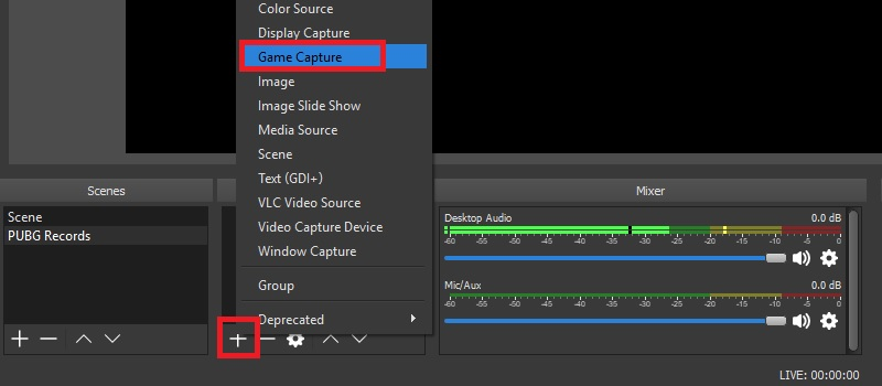 obs step3 selectsource