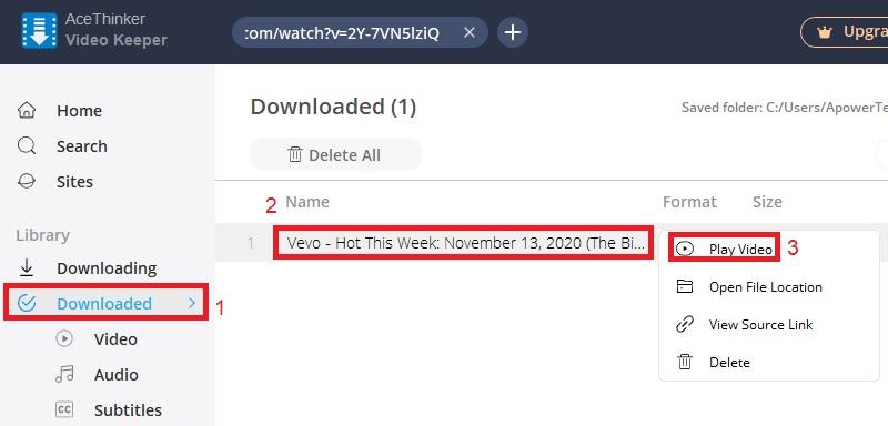 vk play youtube vevo step3