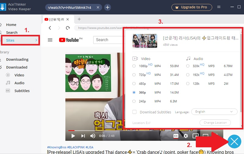 youtube vs dailymotion vk step 2