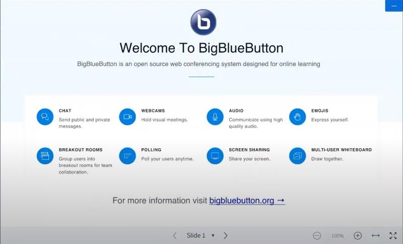 videoconference bigbluebutton interface 1