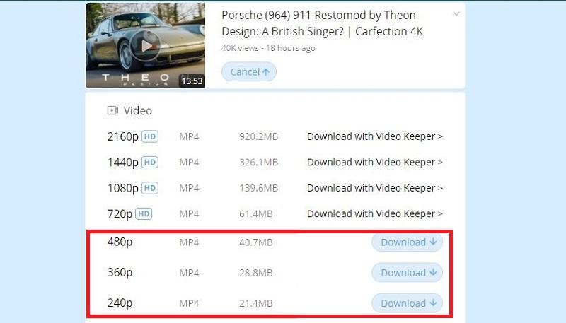 download embedded videos fvd step2