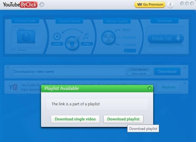 download youtube playlist youtubebyclick