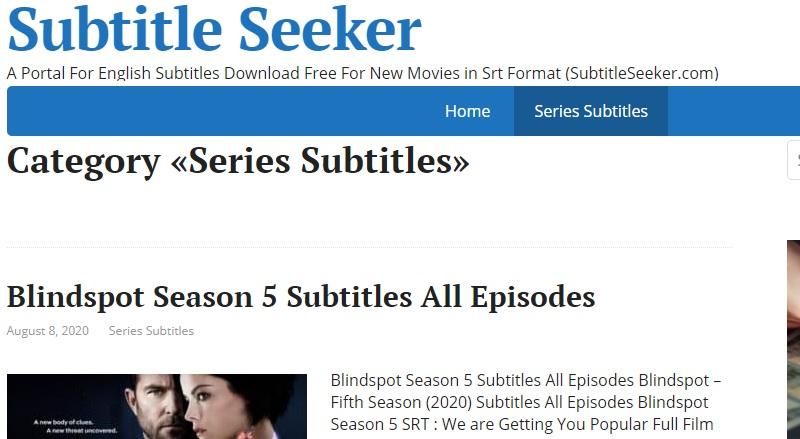 subtitleseeker download subtitle