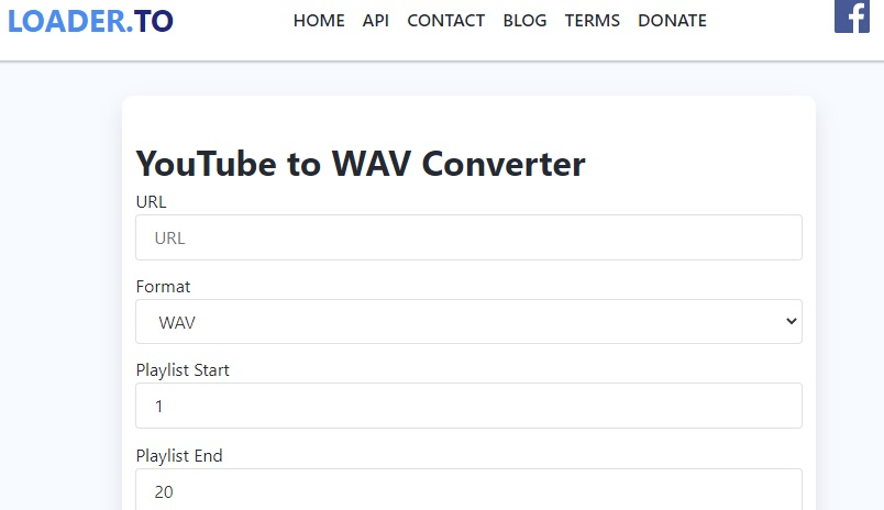 youtube to wav loader.to
