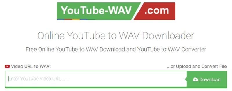 youtubewav interface