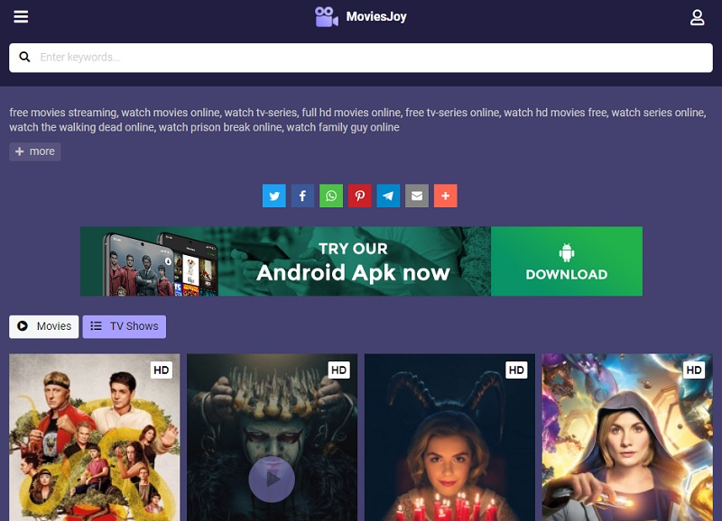 free movie streaming sites no sign up moviesjoy