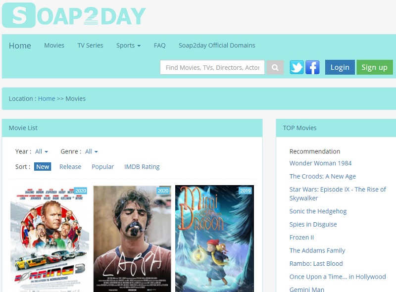 free movie streaming sites no sign up soap2day