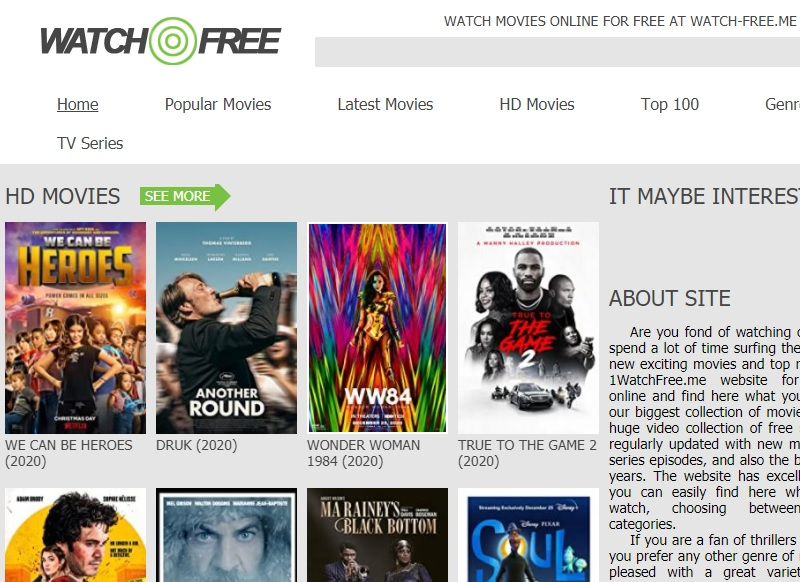 free movie streaming sites no sign up watchfree
